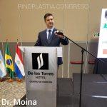 Dr. Gabriel Moina disertando sobre Rinoplastia. Paraguay 2019.